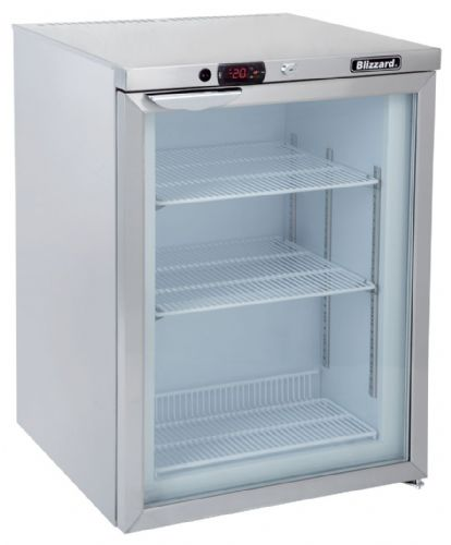 Blizzard Glass Door Undercounter Freezer UCF140CR